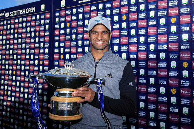 Aaron Rai campeon en el Scottish Open. Foto @scottishopen