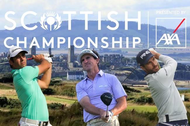 Adrian Otaegui, Gonzalo Fdez.-Castaño y Alejandro Cañizares en el Scottish Championship