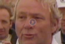 De este modo celebró Arnold Palmer su título en el BMW PGA Championship de 1975 con un ¡+5!