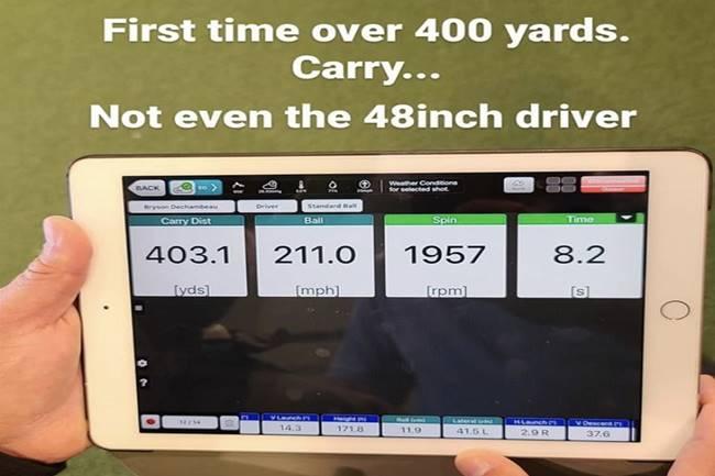 DeChambeau continúa con su idea de alcanzar más distancia con el driver. Ya vuela ¡¡400 yardas!!