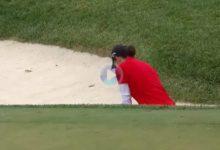 ¡Vaya eagle! Este golpazo desde la arena de Carlota fue clave para el podio de la navarra en el US PGA
