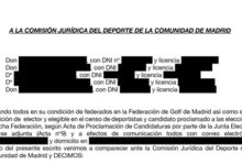 'Madrileños por el Golf' solicita el cese inmediato de la Junta Electoral de la FGM por irregularidades
