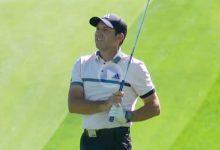 Sergio García sacó dos grandes birdies jugando con el «backspin» y la caída de los greenes en Las Vegas