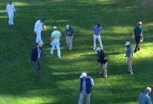 Desastre de DeChambeau en Augusta. Anotó un triplebogey en el 3 tras perder la bola desde el tee
