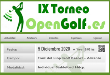 Font del Llop se viste de gala el próximo sábado (5 Dic) para acoger la IX edición del Torneo OpenGolf