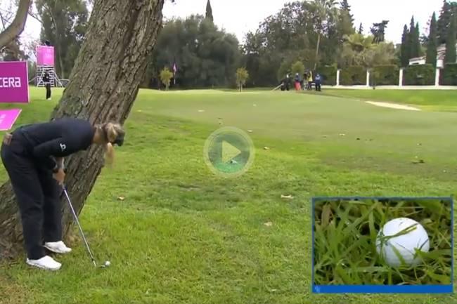 Pedersen la dejó dada desde debajo de un árbol en la mejor recuperación del Open. Por algo es la nº 1