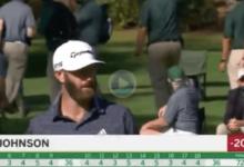 ¡Este birdie es historia del Golf! DJ llegó al -20, un resultado nunca visto antes en el Masters