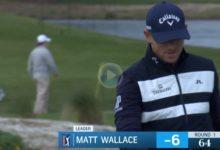 Wallace se despidió de una de sus mejores rondas en el PGA Tour con este enorme puro de 9 metros
