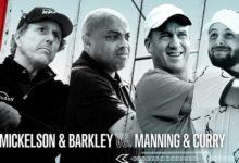 Mickelson y Barkley formarán pareja del tercer envite del The Match contra Curry y Manning