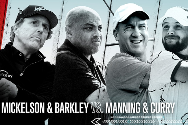 The Match, Mickelson, Curry, Manning, Barkley,