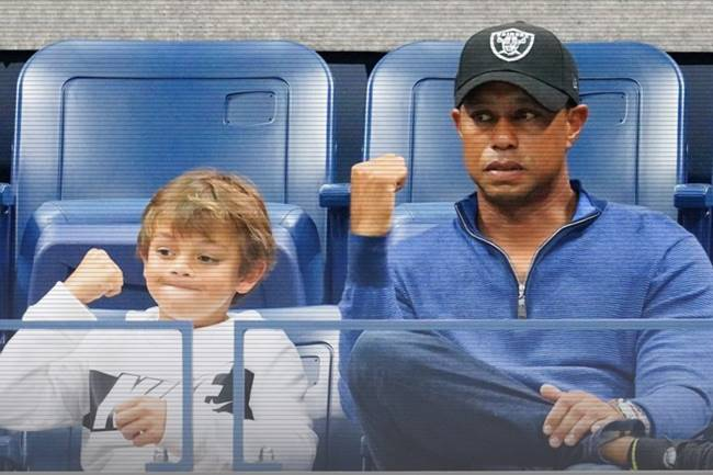 Tiger Woods y su hijo Charlie