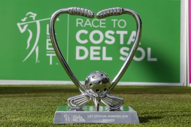 Pedersen recibirá el trofeo que le acredita como Nº 1 de la Race to Costa del Sol de manos de Salado