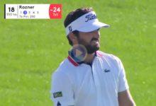 Con este golpe desde 228 metros en el Par 5 del 18, Antoine Rozner se aseguraba el triunfo en Dubai