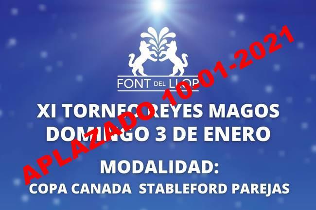 Cartel XI Torneo Reyes Magos Font del Llop aplazado 10.01.2021