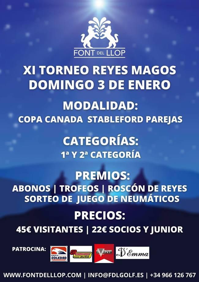 Cartel XI Torneo Reyes Magos Font del Llop