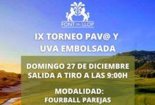 Despide el año en Font del Llop con el tradicional y divertido Torneo del Pav@ y Uva Embolsada (27 Dic)