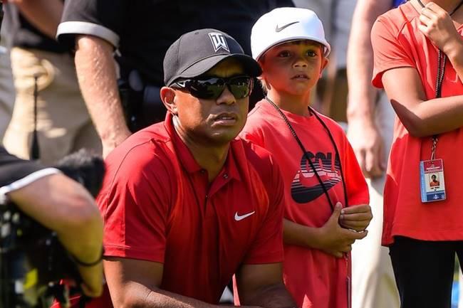 Tiger Woods y su hijo Charlie 2