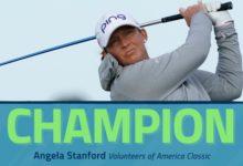 Angela Stanford vuelva a la senda ganadora en el Volunteers of America tras un fabuloso domingo