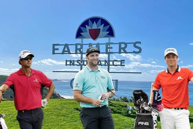 Adam Scott, Jon Rahm y Viktor Hovland en el Farmen Insurance Open día 3