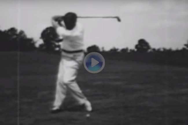 Vea y disfrute con el que seguramente sea el mejor swing en la historia del Golf, el de Bobby Jones
