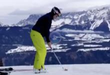 Schwab demuestra que es el rey de los deportes de invierno. ¡Qué maestría jugando en la nieve!