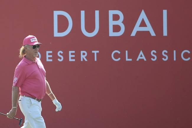 Miguel Ángel Jimenez en el Dubai Desert Classic