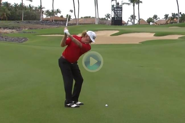 Miguel Angel Jimenez approach Hawaii