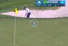 ¡A Molinari no se le ha olvidado esto del Golf! Esta sacada de bunker le vale el Golpe del Día