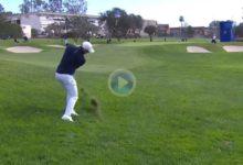 Golpazo de Rory McIlroy desde el rough en el 9 con el que casi consigue el eagle con este approach