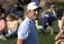 El 17 de Scottsdale, ejemplo de riesgo/recompensa. Rahm firmaba el birdie (3), pero JT se iba con un 7