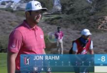 Jon se despidió de Torrey Pines como solo él sabe hacer: ¡putt desde 14 metros… y la bola al agujero!
