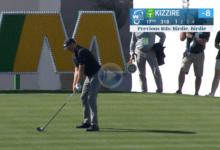Kizzire se quedó a pocos cms. de hacer historia en el PGA Tour. ¡Rozó el Hoyo en Uno en un par 4!