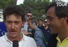 El ET nos ofrece las imágenes de la primera victoria de Jiménez en la gira… ¡con Seve de intérprete!