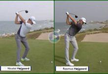 ¿Serían capaces de encontrar las diferencias entre el swing de Rasmus y Nicolai Hojgaard?
