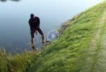 Sin zapatos ni calcetines. Adam Scott salvó el par desde dentro del agua en el 11 del PGA National