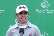 Ana Peláez desde Augusta National WA: «Siempre me imagino ganando con el trofeo para casa»