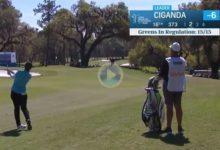 Carlota Ciganda estuvo liderando el Drive On de la LPGA gracias a golpazos como el dado en el 16