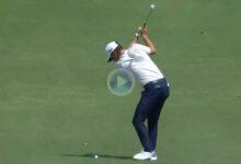¿Quién dijo que el golf es difícil? Niemann sacó el birdie con un driver de 365 yds. y un approach dado
