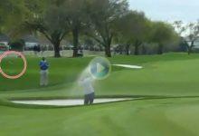 El Golf es duro… Vaya susto se llevaron estos dos voluntarios con este brutal socket de Justin Rose