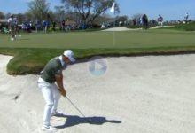 Viktor Hovland dio este viernes una clase magistral de cómo sacar la bola desde la arena