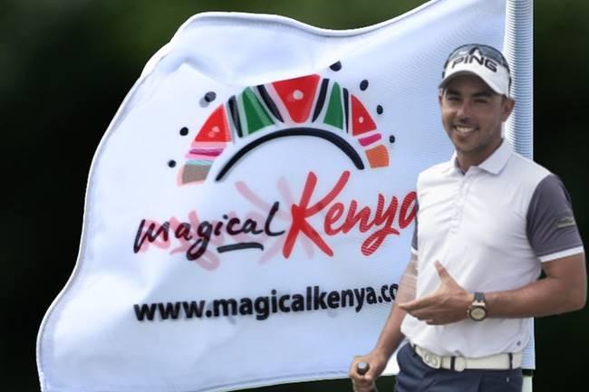 Sebas García Bandera Kenya Open. Foto @EuropeanTour