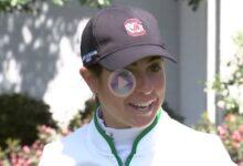 Ana Peláez, tras vencer al Augusta National en el ANWA: «Me dije en el campo, vamos que podemos»