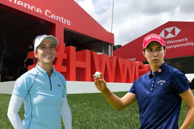 Azahara Muñoz y Carlota Ciganda HSBC Womens World Championship logo