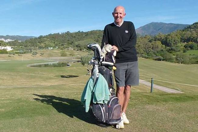El ex golfista del ET David Steele (64 años) intentará jugar 324 hoyos (18 rondas de golf) en un solo día