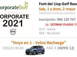 El espectacular Circuito Corporate vuelve a hacer parada en Font del Llop Golf, será el 1 y 2 de mayo