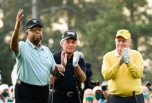 Lee Elder se unió a Jack Nicklaus y Gary Player al emotivo comienzo en la 85º edición del Masters