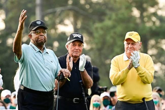 Lee Elder, Jack Nicklaus, Gary Player Masters 2021