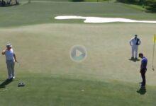 DeChambeau y Kevin Na se lo pasaron muy bien este lunes sobre los greenes del Augusta National