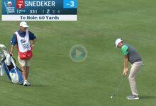 Snedeker se lleva el Golpe del Día con un chip de lo más rutinario desde 60 yardas. ¡Qué clase!