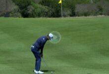 Matsuyama comenzó el día de forma primorosa en San Antonio y este birdie desde 24 m. da fe de ello